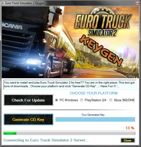 free list Euro Truck Simulator 2 Free CD Key