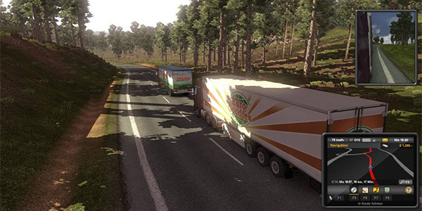 Euro Truck Simulator 2 driving with free cd key