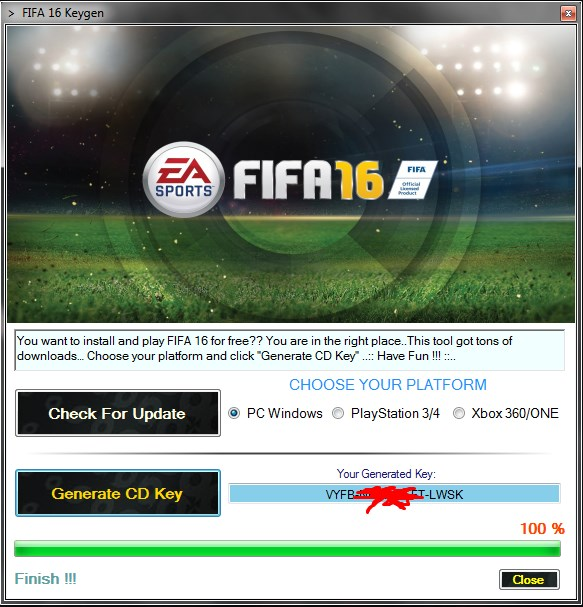 play new fifa 16 for free with this awesome keygen tool .. Fifa 16 free cd key