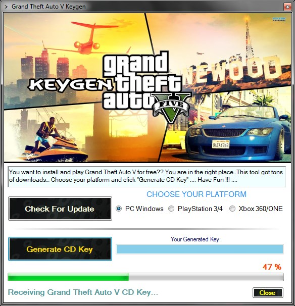 Grand Theft Auto V CD Key gratuit (jouer GTA 5 gratuitement)