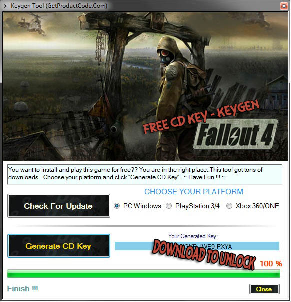 Fallout 4 Gratis CD KEY (steam keygen tool) 2015