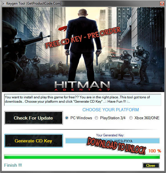 Hitman 2015 gratis cd-nyckel