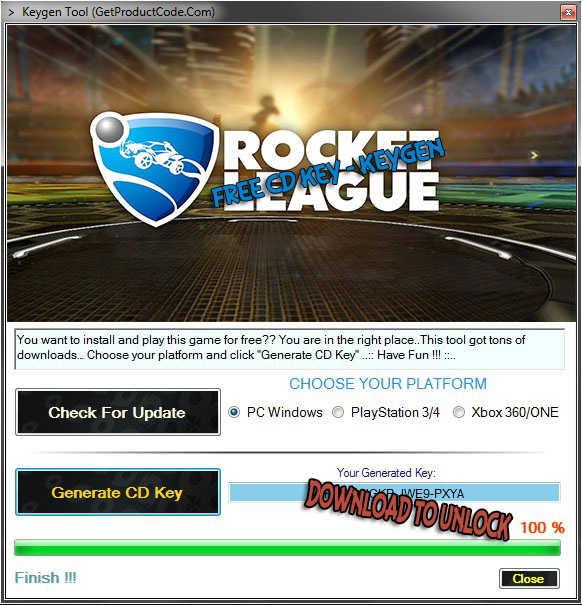 how to get Rocket League free cd keys (steam product code hack)