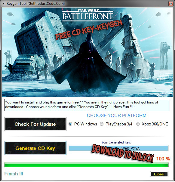 Star Wars Battlefront Free CD KEY