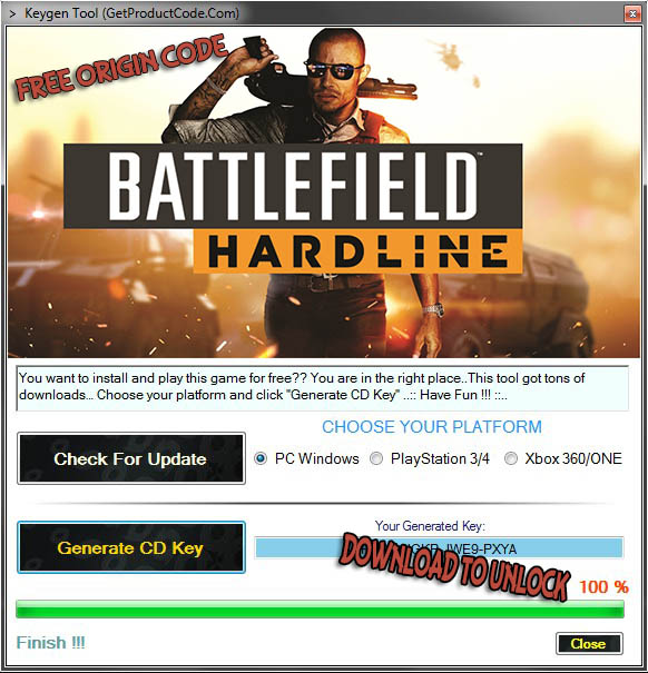Battlefield Hardline Origin Key Giveaway
