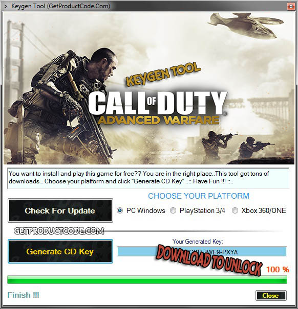 Télécharger Call of Duty Warfare Steam Keygen de pointe 2015