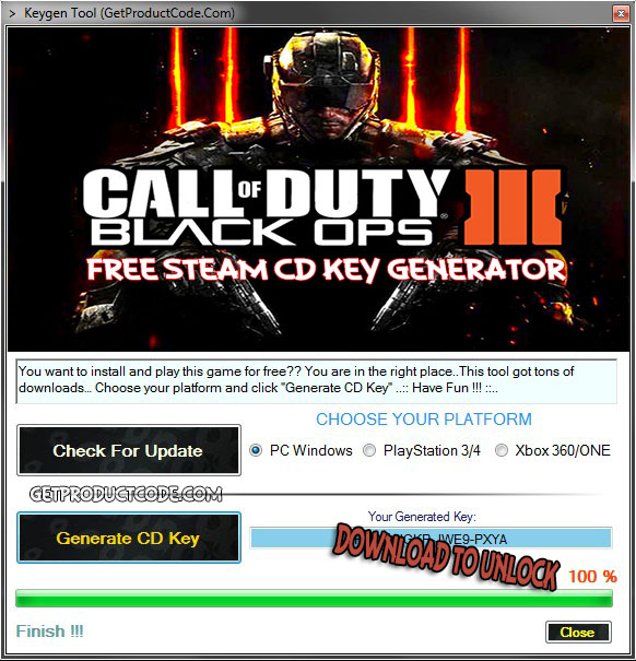 Download Call of Duty Black Ops 3 CD Key Generator and play online for free