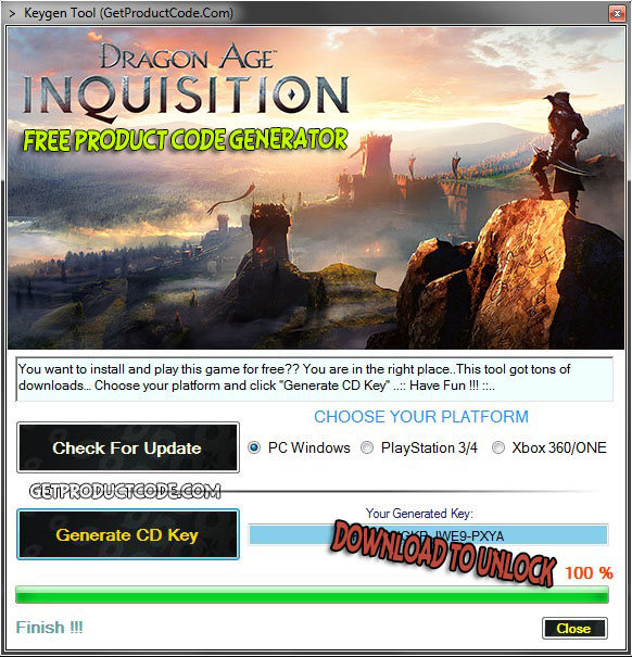 download Dragon Age Inquisition free product key
