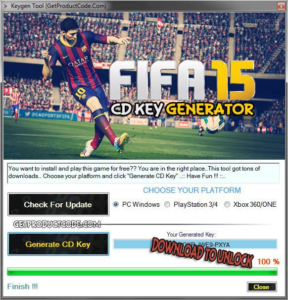 FIFA 15 free code key generator tool 2015