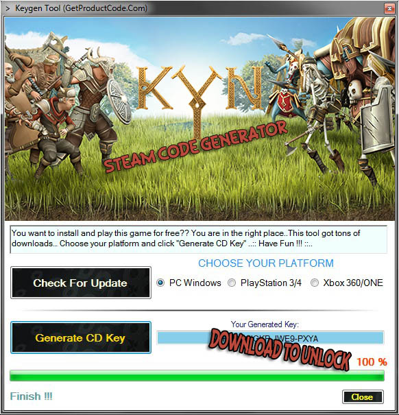 download Kyn steam code generator and play online for free