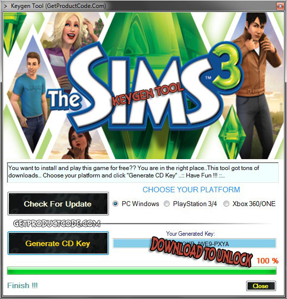 Download The SIMS 3 Free CD Key