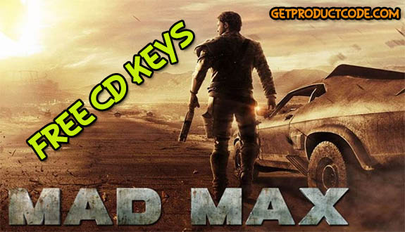 mad max free game product key