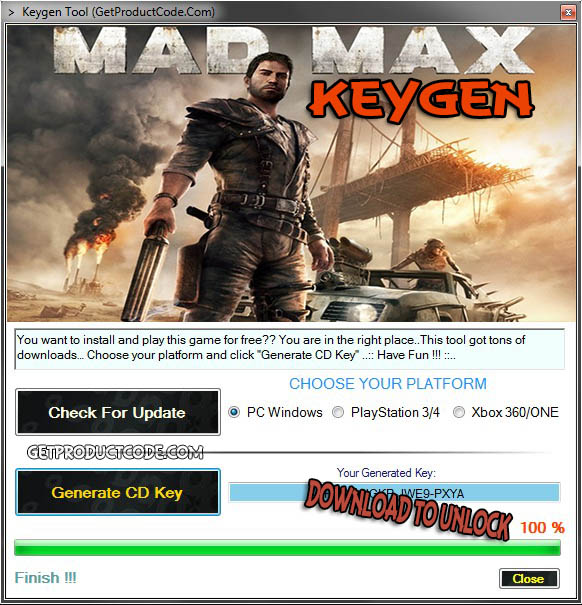 Mad max 2015 cd key giveaway free activation code