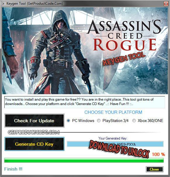 Assassin's Creed Rogue CD Key Generator Tool 2015