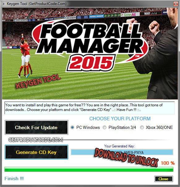 Scarica Football Manager 2015 strumento di keygen
