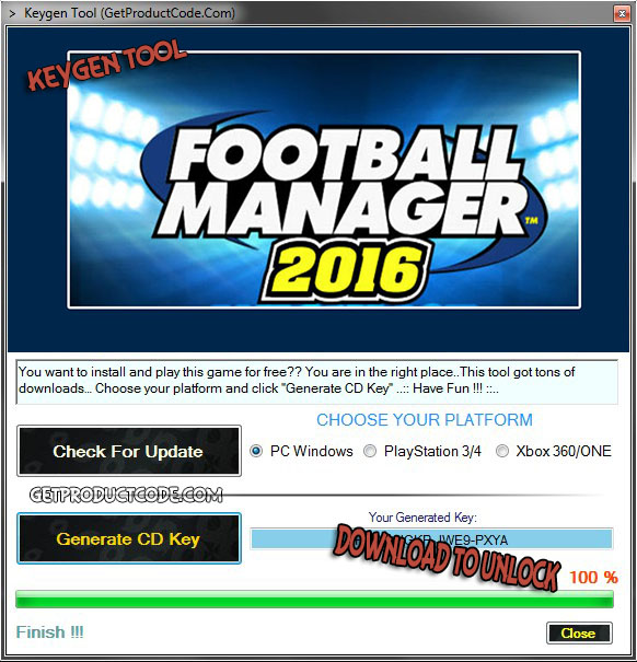 Football Manager 2016 cd key giveaway