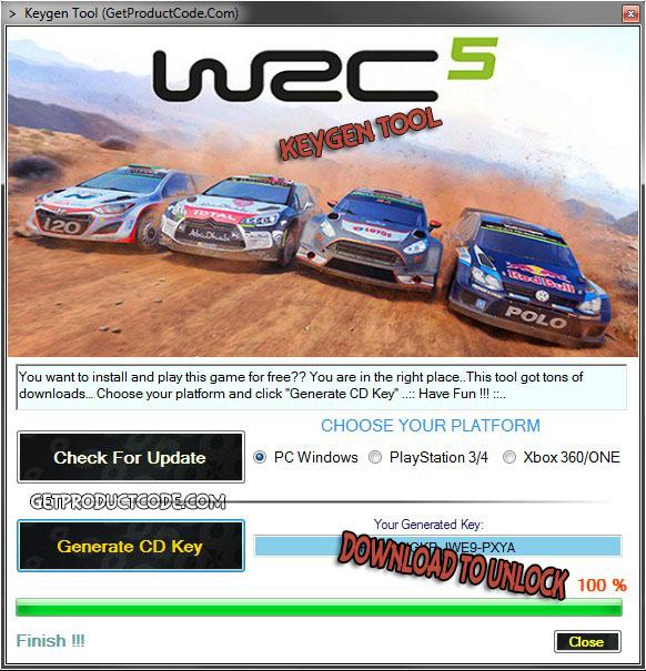 WRC 5 cd key giveaway