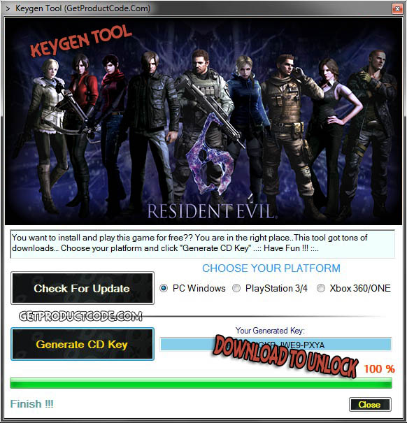 Resident Evil 6 cd nyckel giveaway