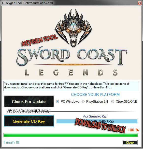 Sword Coast Legends cd key giveaway