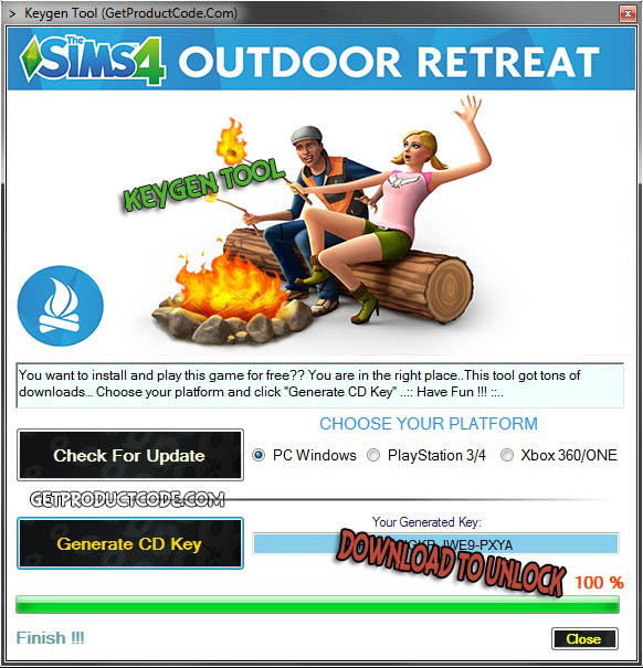 The Sims 4 Outdoor Retreat Free CD Key Giveaway 2015