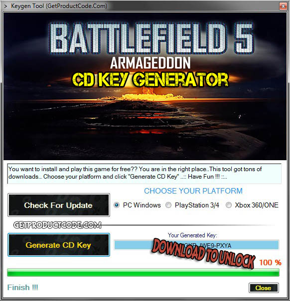 Battlefield 5 CD Key Generator