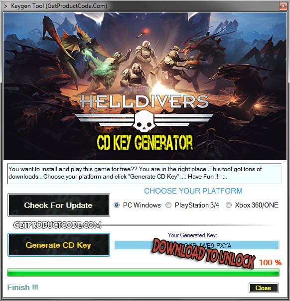 HELLDIVERS free cd key giveaway 2016