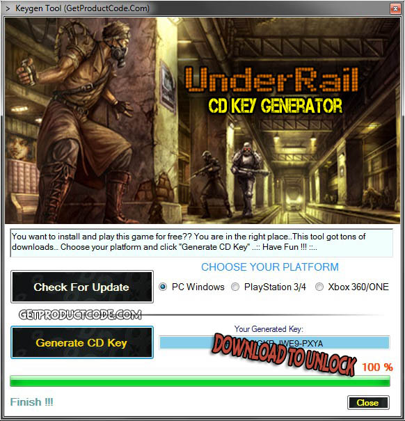 UnderRail free cd key giveaway