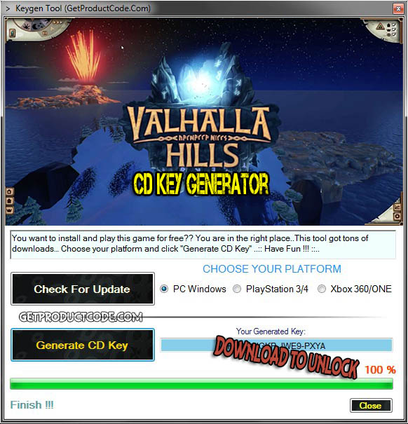 Valhalla Hills free cd key giveaway