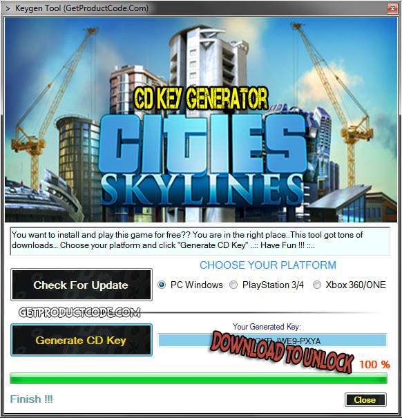 Cities Skylines CD Key Generator 2016
