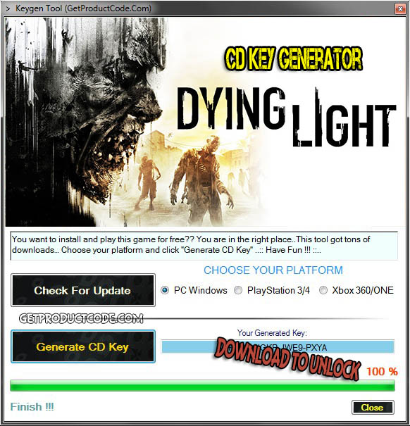 Dying Light cd key giveaway