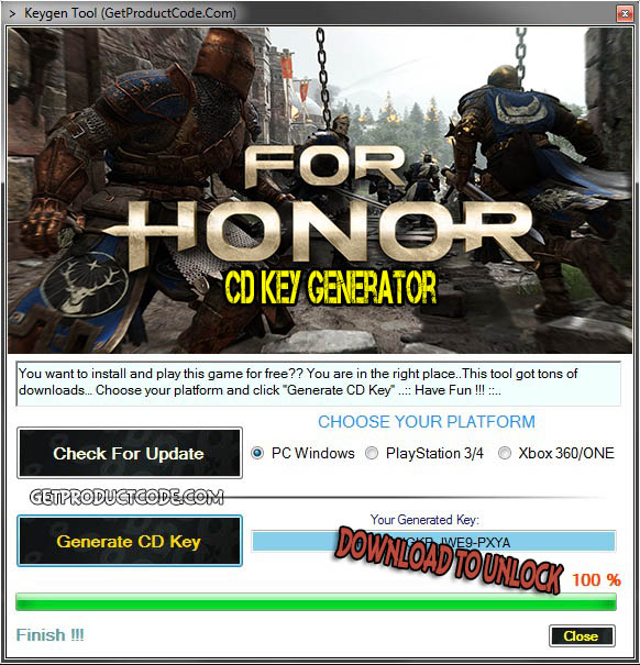 For Honor cd key giveaway