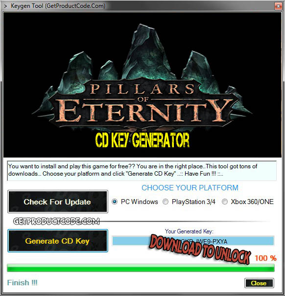 Pillars of Eternity cd key giveaway
