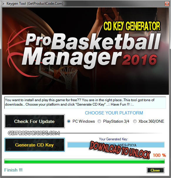 Pro Basketball Manager 2016 free cd key list