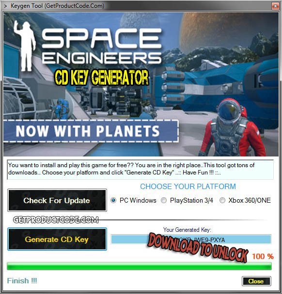 Space Engineers cd key giveaway