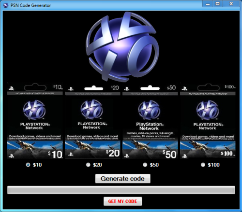 psn code list and generator tool