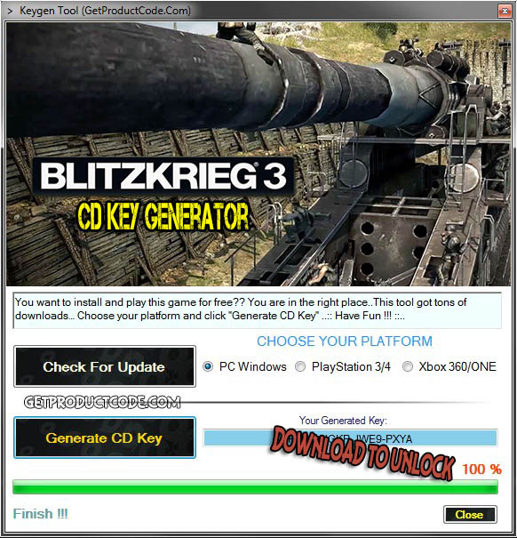 Blitzkrieg 3 cd key giveaway 2016