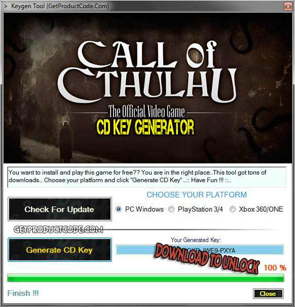 Call of Cthulhu cd key giveaway