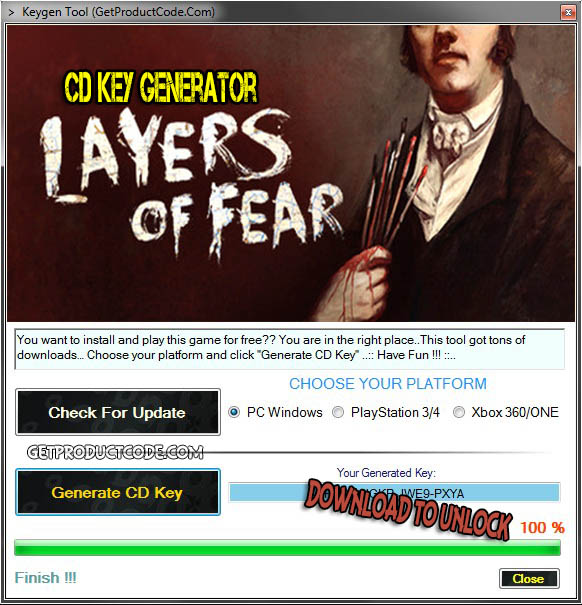fear cd key generator: