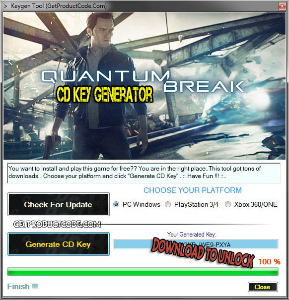 Quantum Break cd key giveaway