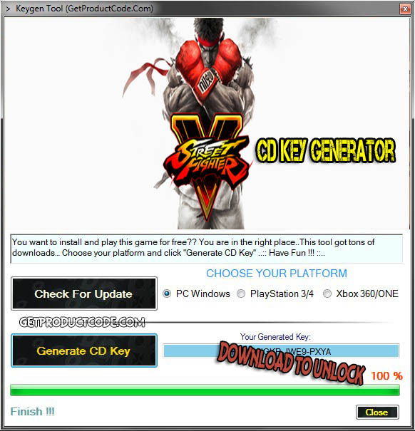 Street Fighter V CD Key Generator