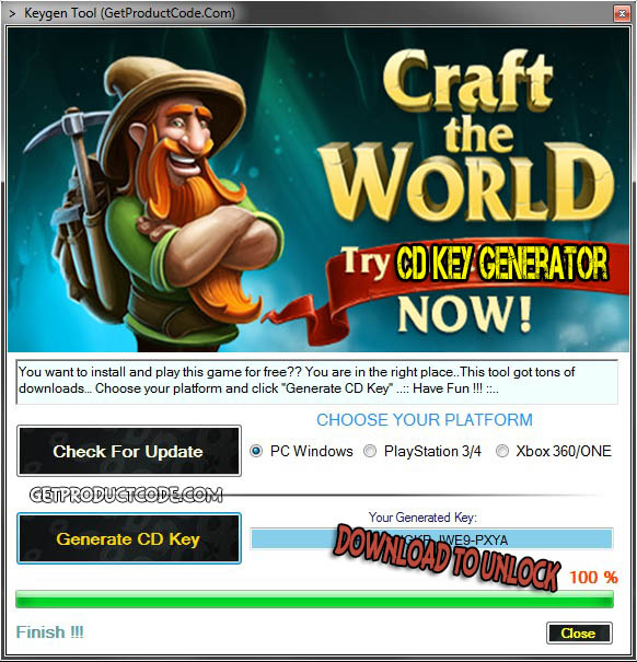 Craft The World cd key giveaway