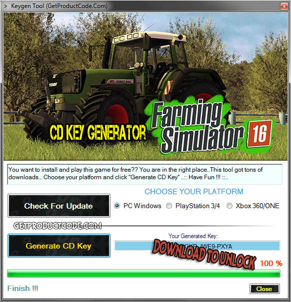 Farming Simulator 2016 CD avain kylkiäinen