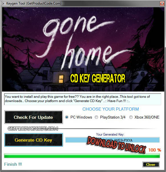 Gone Home cd key giveaway