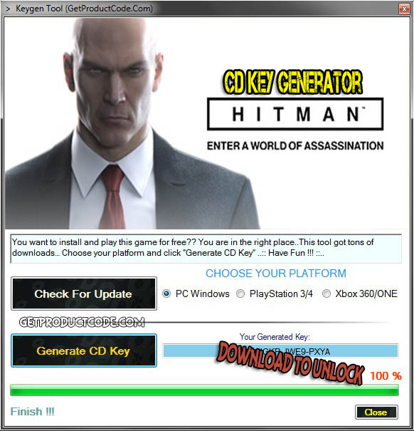 HITMAN cd key giveaway 2016