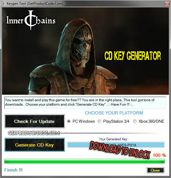 Inner Chains CD Key Generator 2016