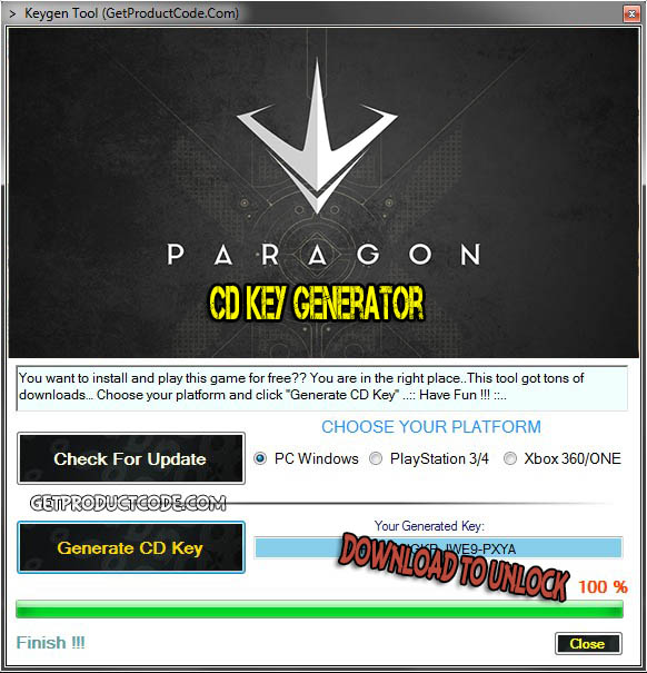 Paragon cd key giveaway