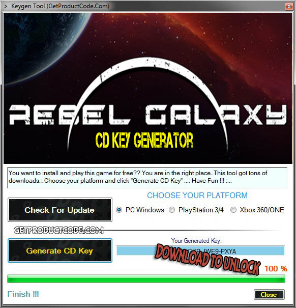 Rebel Galaxy cd toonsoort giveaway