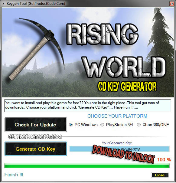 Rising World cd key giveaway