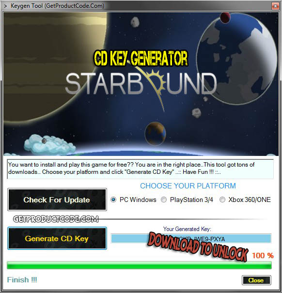 Starbound cd nøkkel giveaway
