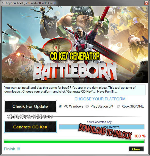 Battleborn cd key creator download free
